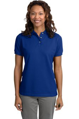 Picture of Custom Embroidered Ladies Pique Knit Polo