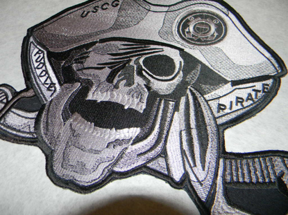 "Picture of 6"" Medium Size Custom Embroidered Pirate Patch - 50% Embroidered"